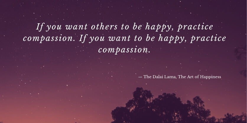 Dalai Lama quote from The Art of Happiness